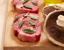 Making raw meat appetizing.